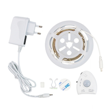 Dimmable LED Strip Sensor Night Light Motion Activated Bed Light 1.2Meter with Automatic Shut Off Timer Cabinet Light DC12V
