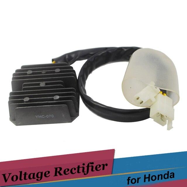 5 Wires 2 Plug Motorcycle Voltage Regulator Rectifier 12v Black for Honda XR650L 1993 - 2012