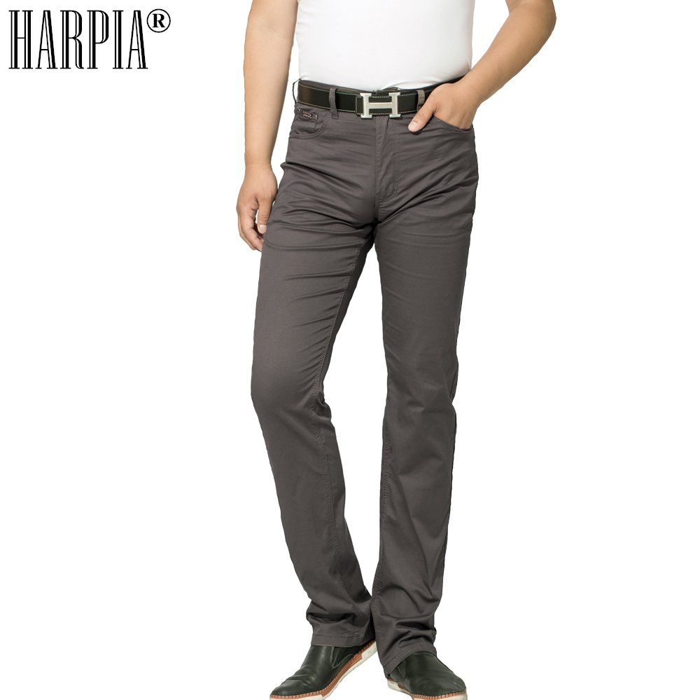 HARPIA Осень Новый Для мужчин Повседневное брюки Для мужчин s Классические хлопковые регулярные эластичный прямые брюки среднего возраста муж...