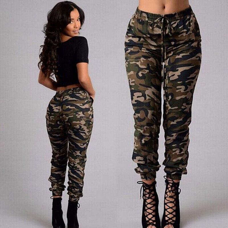 Camo Pants plus size 2019 NEW Women Fashion Camouflage Jogger Military Harem sweatpant Pant Casual