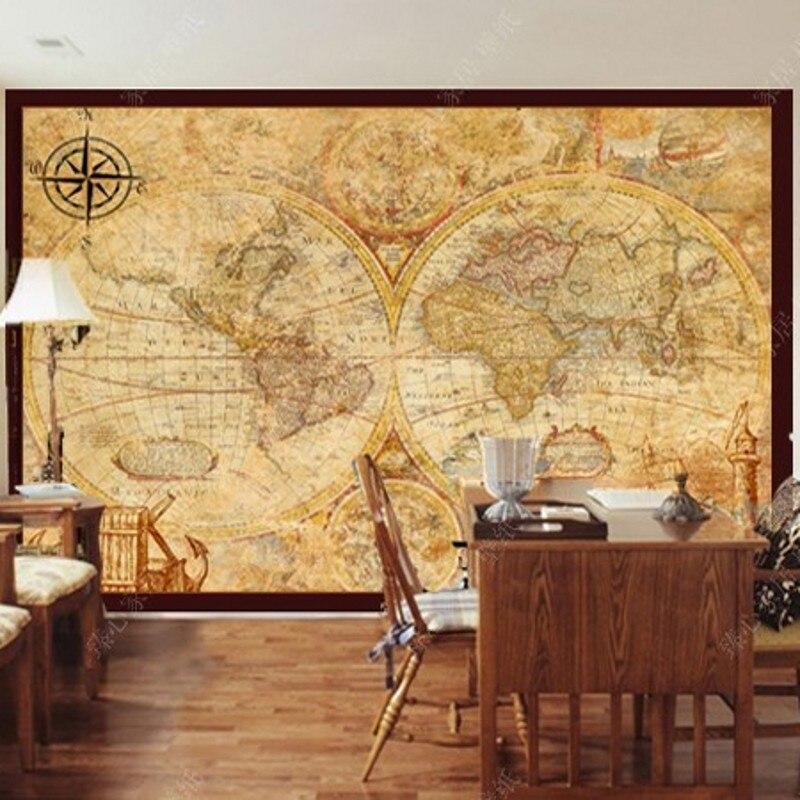 Livraison directe Fatman Carte Du Monde Papier Peint Salon Chambre Mur Papier Mural 3d Amélioration de L'habitat Papier Peint Mural 3d