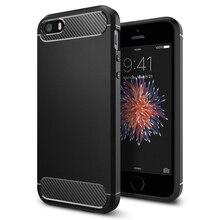 100% Оригинал Корея Сделано Прочная Броня Углеродного Волокна Текстурой Защитный Чехол для iPhone SE/5S/5