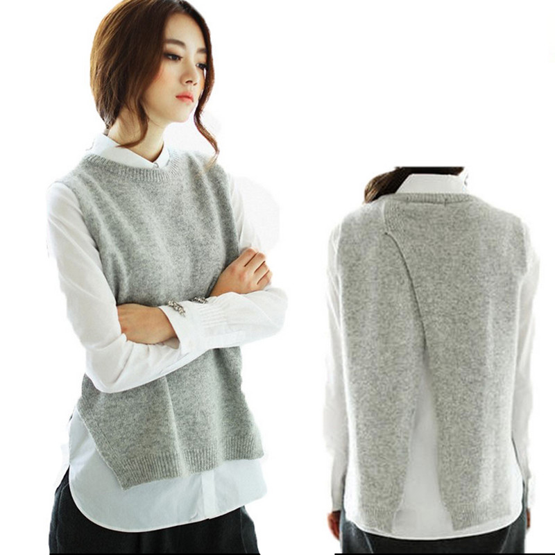 Knitting Patterns For Vest Tops : Online Get Cheap Knit Sweater Vest -Aliexpress.com Alibaba Group