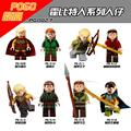 8pcs The Hobbits Lord of the Rings Knight Figures Model Assemble Model DIY Building Blocks Sets Kids Educational Toys Gift