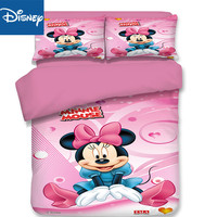 Disney Mickey mouse queen size comforter bedding sets for kids duvet covers 3pc UK king size girl birthday gift 3D Printing