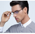 Masculino hombres de negocios gafas de titanio marcos de anteojos recetados en línea de lentes lunette de vue opticos antiestrés