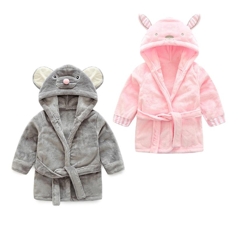 2bcb4fbecd high quality children s bathrobe Retail! Baby pc 1 boy girl soft velvet  robe pajamas coral children dress baby clothes