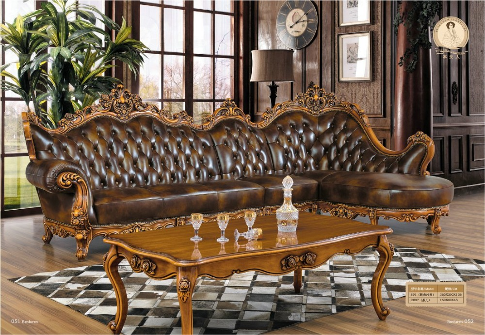 Chaise Armchair Beanbag Style Set Antique No Genuine Leather ...