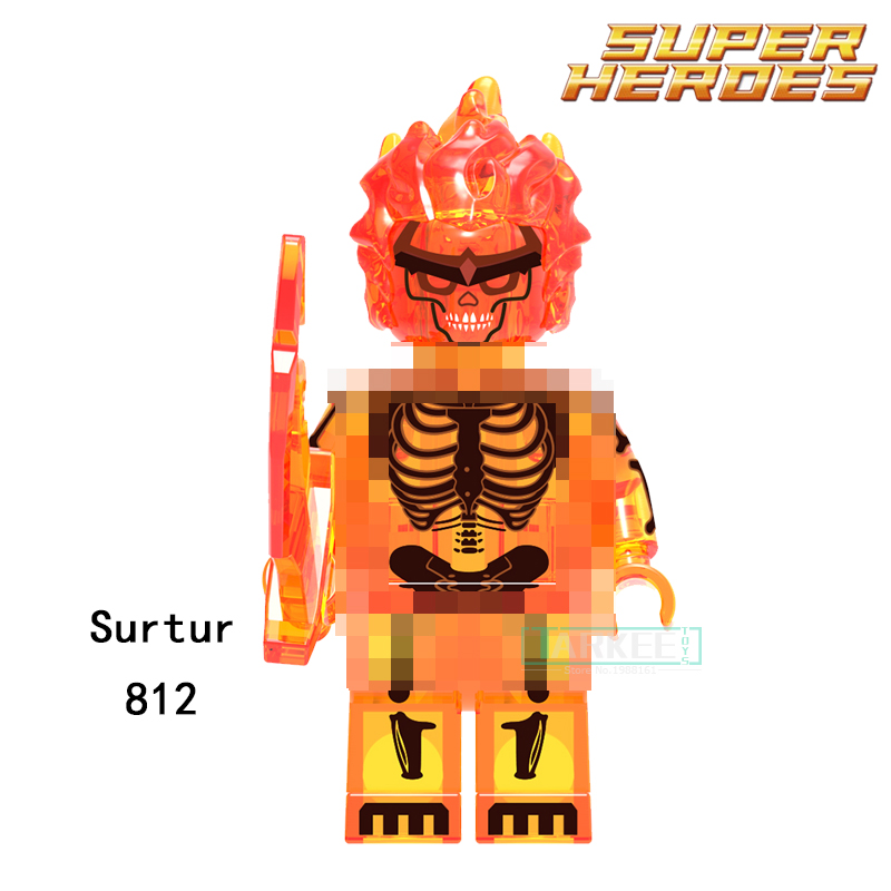 Single Sale Building Blocks Red Surtur Super Heroes Handsome Model Toys Hobbies Children Gifts Bricks Marvel DIY Figures 812 single building blocks kits ninja pythor kozu lloyd zane nya figures super heroes star wars model bricks kids toys hobbies x0143