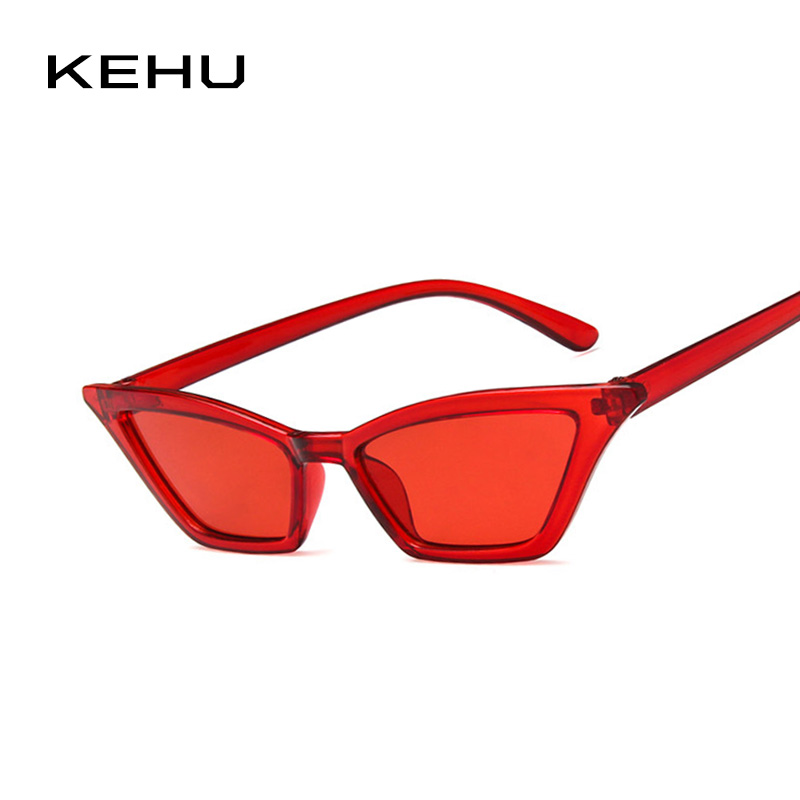 KEHU mujeres gato ojo gafas de sol amarillo gafas de sol marca diseñador mujeres gafas de sol de diseño tendencia de la moda gafas UV400 K9641