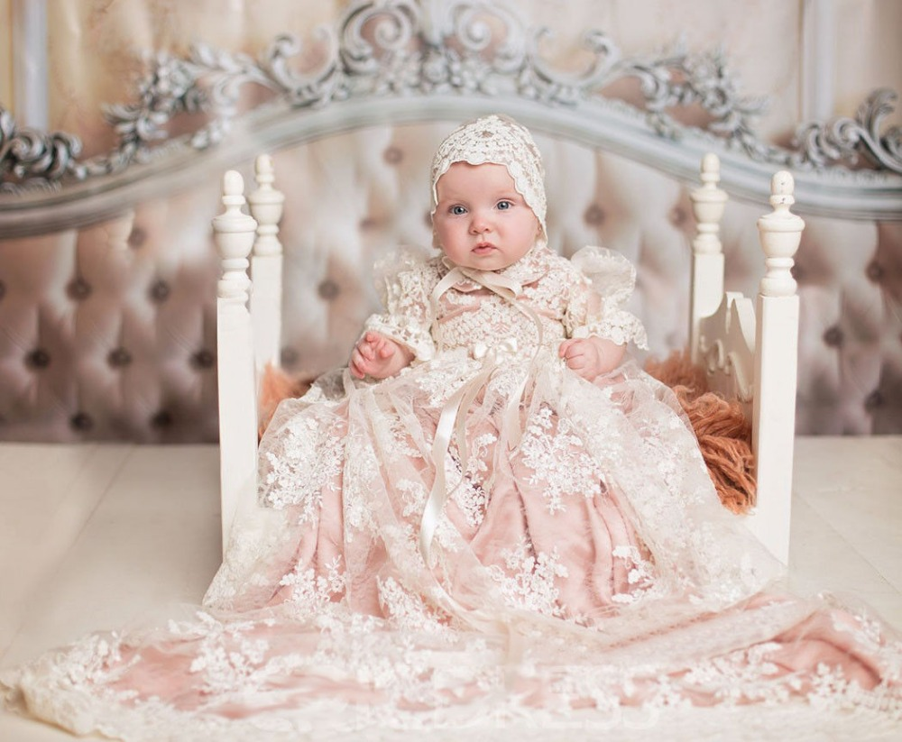 Cute Kid Lace Appliques Tulle Ball Gown   Flower     Girl     Dresses   for Wedding Party Baptism Christening Birthday Custom Made