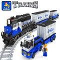 Ausini modelo kits de construcción modelo compatible con lego city train 647 3D bloques Educativos y de construcción de juguetes y pasatiempos para niños