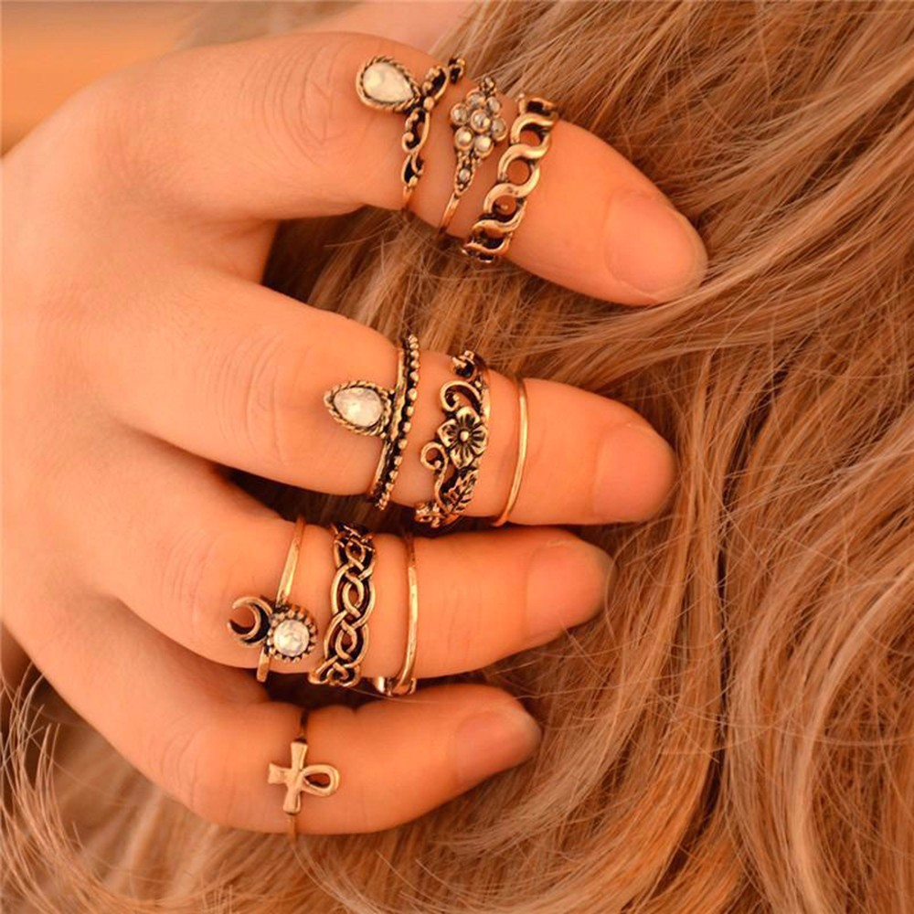 HTB1z_HYNpXXXXcCXpXXq6xXFXXXH 10-Pieces Unique Vintage Carved Spirituality Knuckle Ring Set For Women - 2 Colors