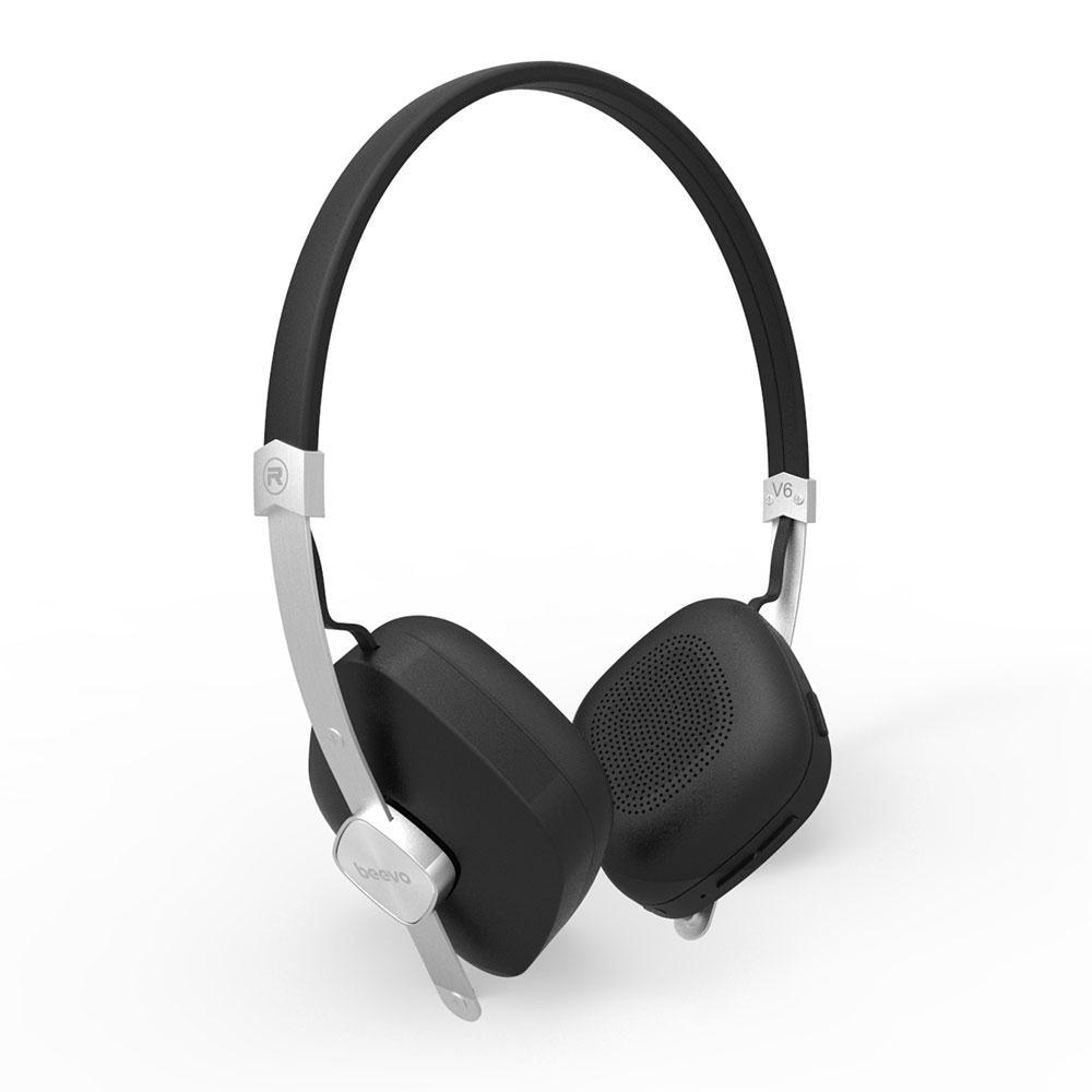 Beevo V6 Wireless Bluetooth Stereo Headset Over Ear Earphone with MIC Headphone for Music Bluetooth Phone call 3 Colors 2017 scomas i7 mini bluetooth earbud wireless invisible headphones headset with mic stereo bluetooth earphone for iphone android