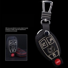 Leather cover wallet key remote case 2008 2016 2017 For Mercedes Benz W203 W210 W211 AMG W204 C E S CLS CLK CLA SLK key2a F 6d luxury pu leather car seat covers universal 5 seat covers for mercedes benz w203 w210 w211 amg w204 c e s cls clk cla slk