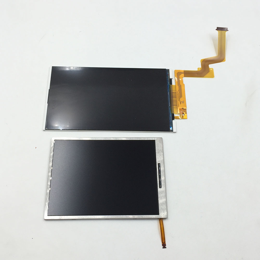 Replacement Upper Top Bottom Lower LCD Display Screen for NEW 2DS XL LL Repair Parts Display Panel смеситель для кухни rossinka silvermix z35 28
