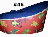 Sports ball printed baby bean bag chair, safe harness kids beanbag sofa seat tight sleep bean pods, child strollers