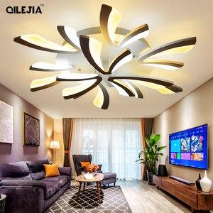 Image 2 - Led ضوء السقف لغرفة المعيشة غرفة نوم أبيض/أسود بسيط Plafond led مصباح السقف تركيبات الإضاءة المنزلية AC90 260V