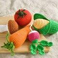 2016 Crochet Newborn Fotografía Atrezzo Conejito Zanahoria, de limón, semillas de Maíz de Frutas Verduras Recién Nacido Trajes Accesorios de Simulación