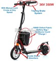36V 350W Electric Working Scooter Carry by Yourself any Where any Time Lazy Bike Foldable