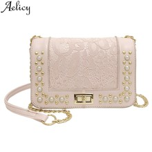 Aelicy Crossbody Ms. Pearl Turn Lock Shoulder Bags Soft Faux Leather Crossbody Bag Crossbody Bags For Women Cell Phones(China)