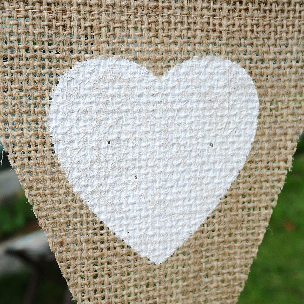 13pcs set Love Heart Linen Pennant Banners Bridal Shower Wedding decoration Birthday Party signing table decors Party Supplies in Party DIY Decorations from Home Garden