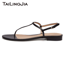 Woman Summer Black Flats Ladies Buckle Women Flats Fashion Beach Shoes Brand Simple High Quality Plus Size Free Shipping 2019 free shipping beach shoes women canvas sandals candy colored summer fashion flats customized size 35 40