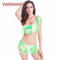 Xxl kích thước nhanh chóng khô cao cổ bikinis đặt 2017 womens push up swimsuit tắm brazil phù hợp với