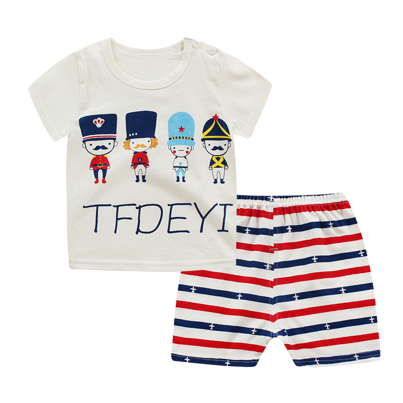 Boy Clothing Sets Summer Boys Clothes Children Clothing T-shirt+Shorts Kids Clothes Toddler Boy Outfits Sport Suits