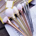 Novo 7 pcs Maquiagem Cosméticos Brushes Set Pó Foundation Eyeshadow Lip Brush Tool