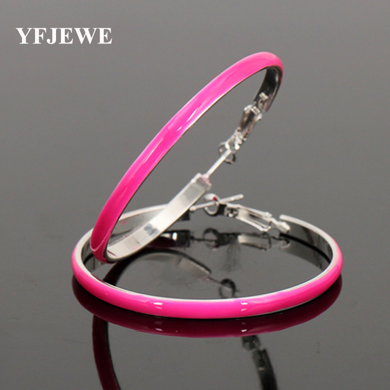 YFJEWE New Popular Earrings Manufacturers Selling 5.5 Cm Fluorescent Color Color Female Sexy Earrings For Women Girls Gift #E034