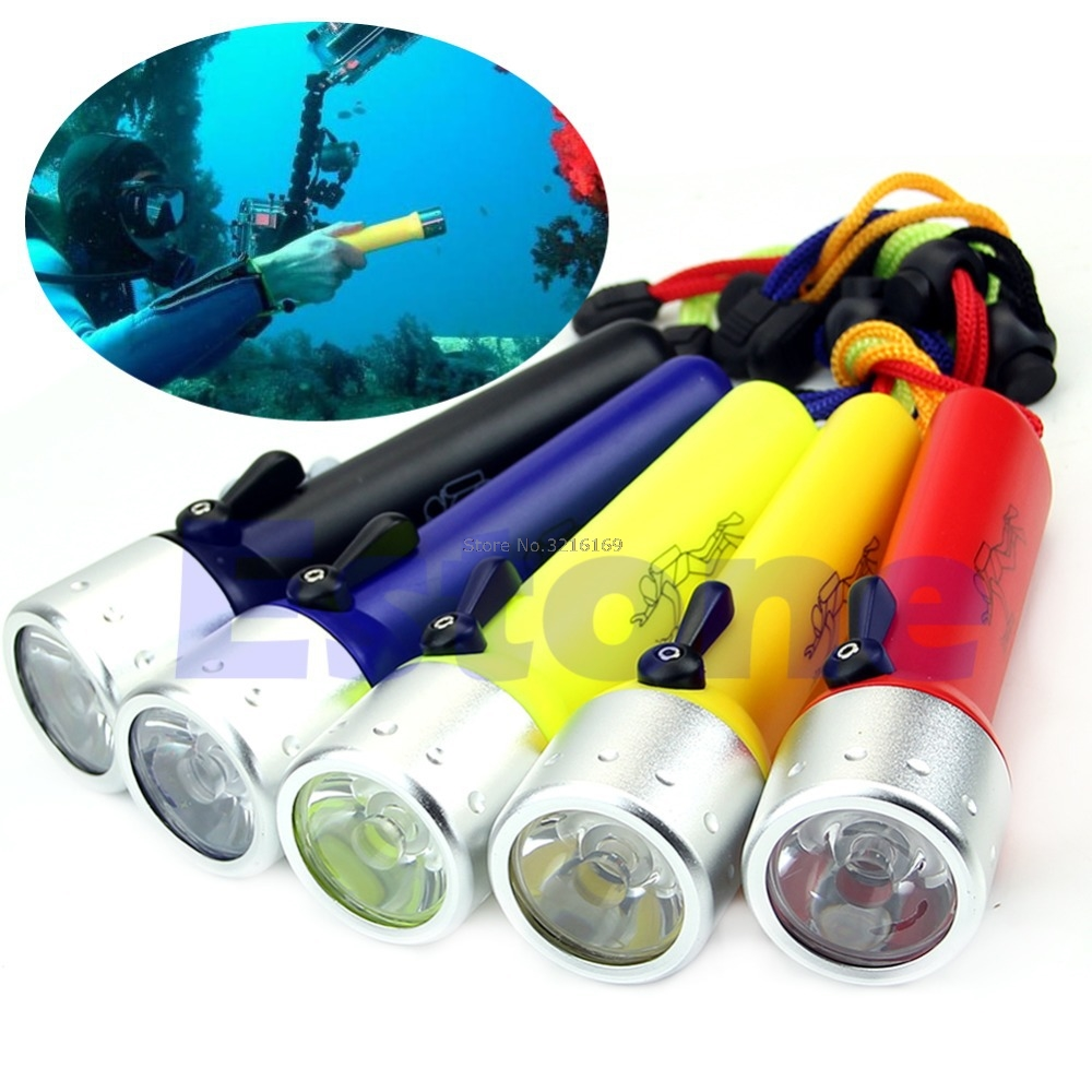 For Professional Diving Flashlight Underwater Torch LED Light Waterproof Lamp Promotion