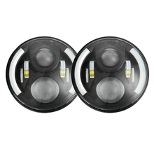 "Oslamp 2 UNIDS 7 ""60 W Virutas DEL CREE Faros LED para Jeep CJ/Wrangler JK H4 Led Luz de Conducción para Land Rover Defender H13 Faros"