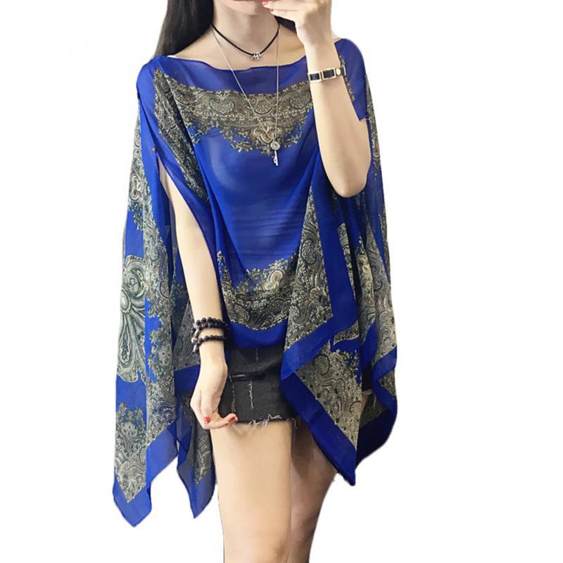 Nouvelle chemise en mousseline de soie Protection solaire vêtements châle femmes longue mince Blouse à manches longues vêtements vacances tourisme crème solaire chemise
