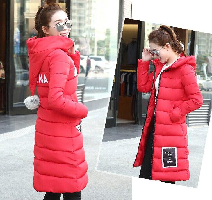 2016 New Fashion Winter Jacket Women Full Sleeve Slim Women Down Jacket Long Winter Jacket M