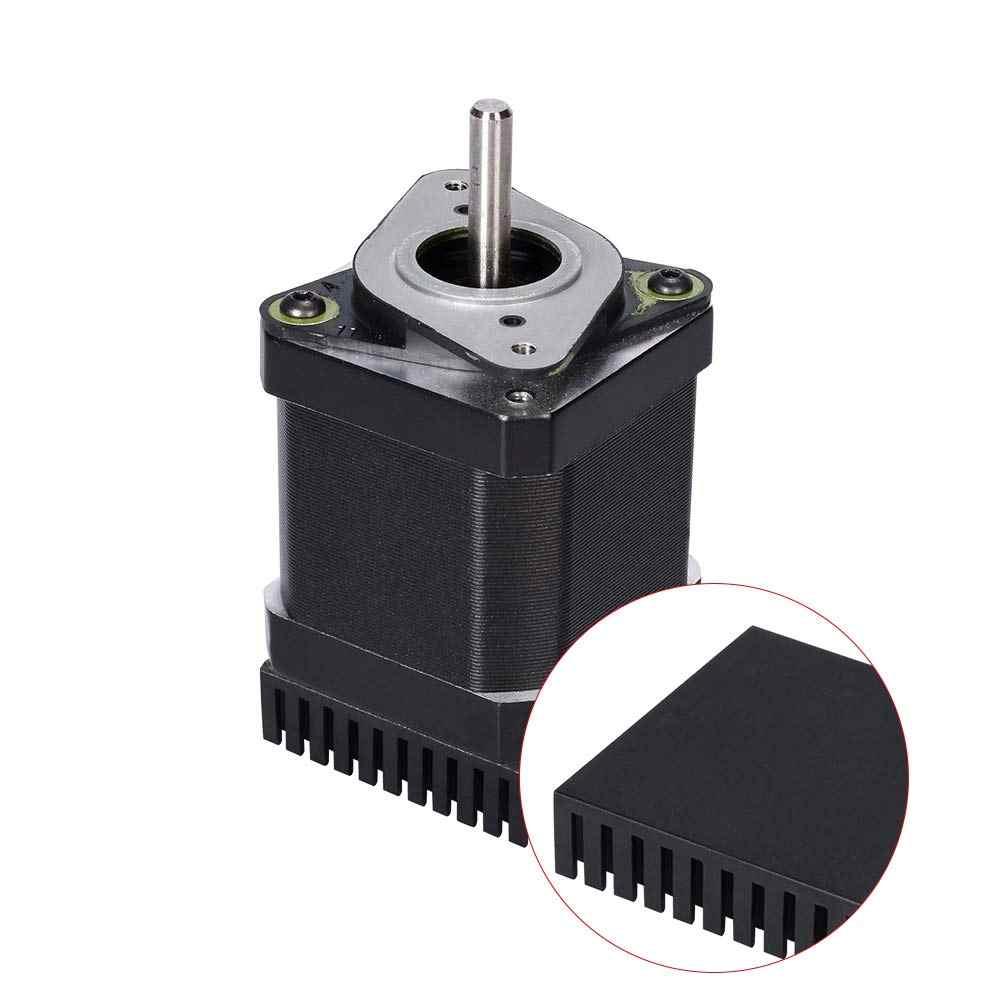 4 個黒ラジエーターアルミモーターヒートシンク押出熱放散電子ヒートシンク 42 ステッピングモータため 3D 印刷