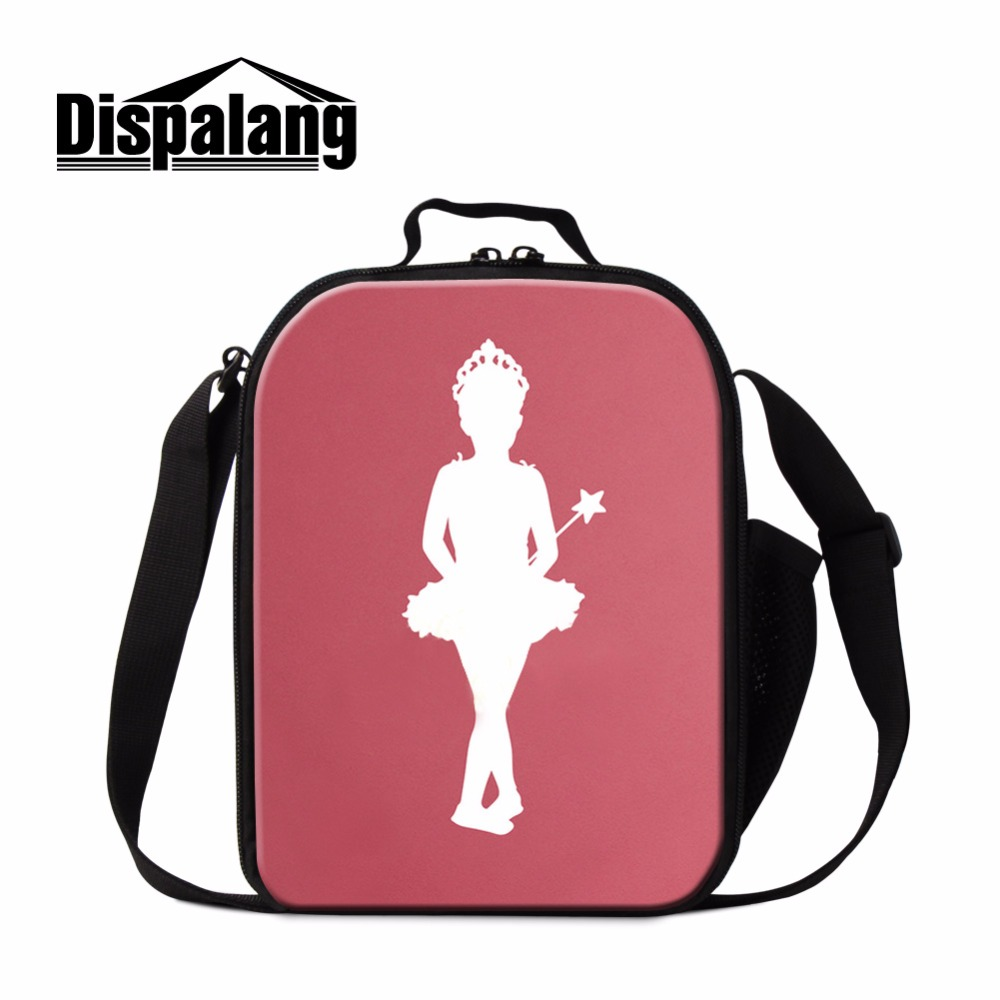 Dispalang Dancing Ballet Girl Print Insulated Lunch Bag For Kids Lunch Cooler Bag For School Picnic Food Container Lunch Box