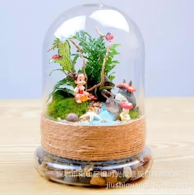 Hotel Decoration Glass Bottle Lid Artificial Flowers For Glass
