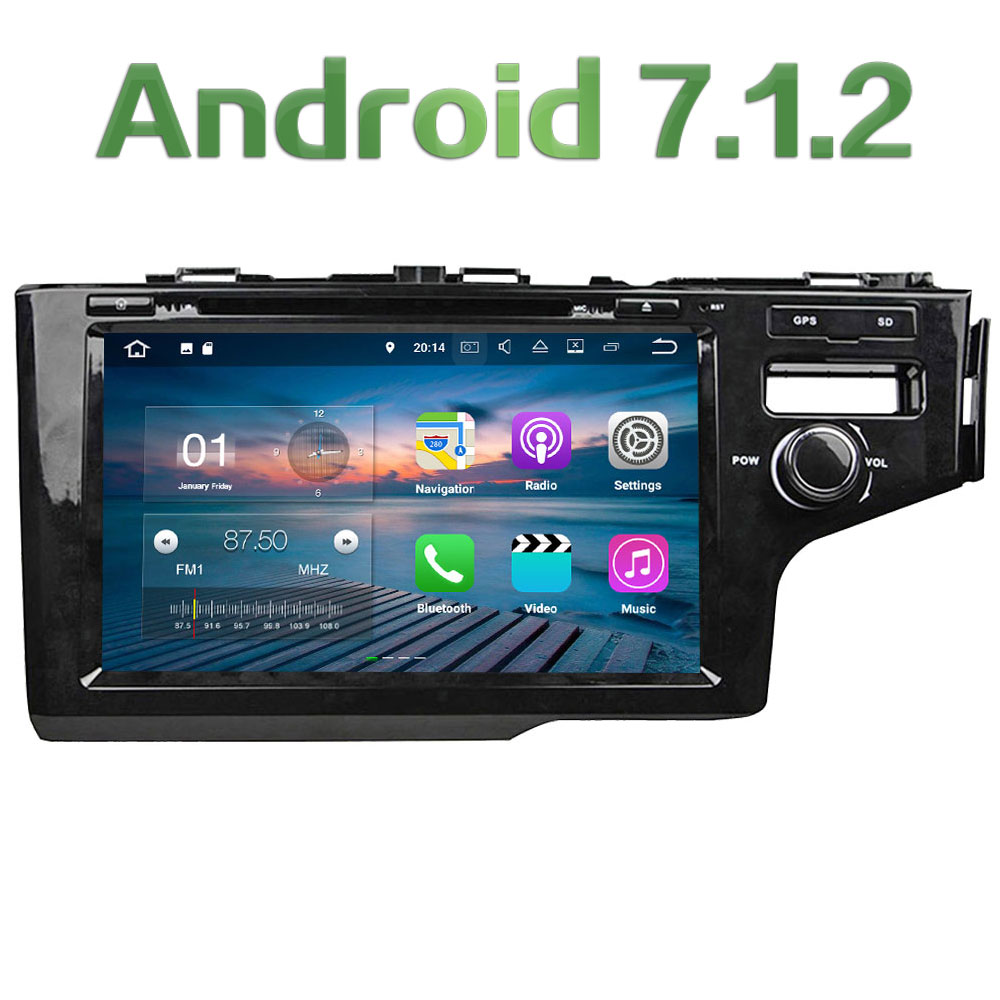 9 Android 7.1 Quad Core 2GB RAM 4G Multimedia Car DVD Player Radio Stereo For Honda FIT RHD Right driving 2014 2015 2016