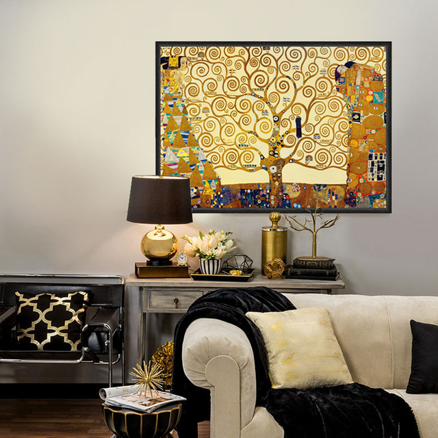 artists gustav klimt works the tree of life wall pictures for living room the paintings canvas painting canvas prints decoratiin painting u0026 calligraphy