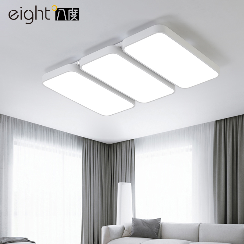 Modern iron acrylic LED ceiling lights home living room lamp creative fixtures ceiling lamps rectangle bedroom Ceiling lighting modern vintage lamp iron led ceiling lights for clothing store cafe creative plafoniera led ceiling lamps industrial lighting