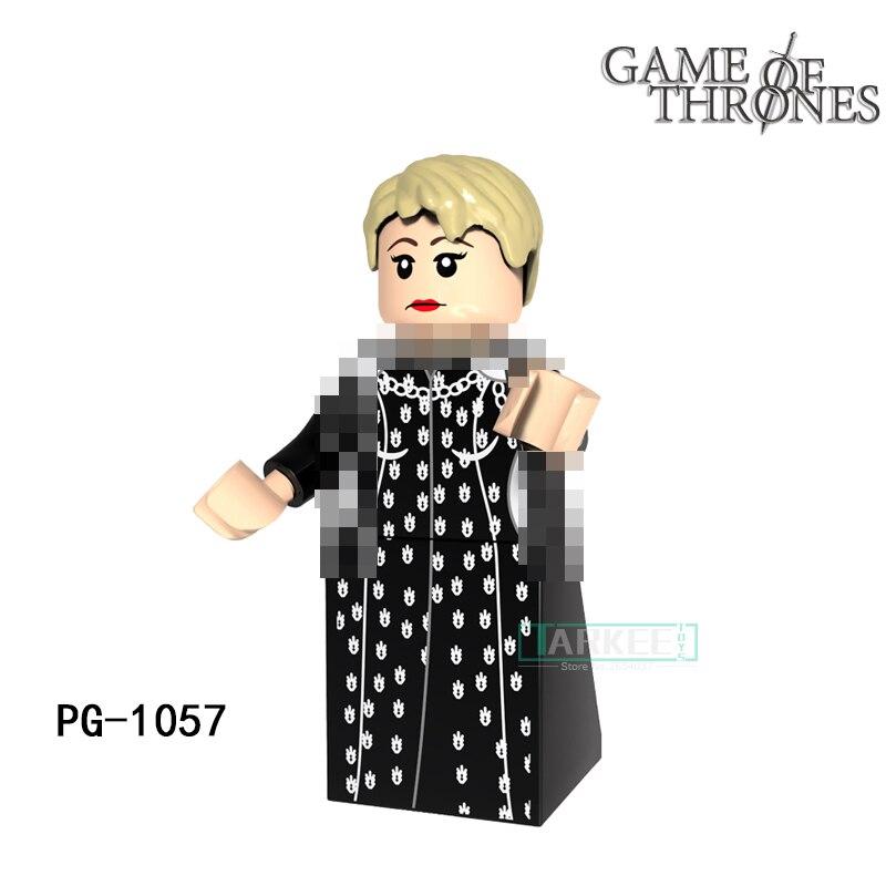 Building Blocks Cersei Lannister Caitlin Stark Sansa Super Heroes Game of Thrones Bricks Kids DIY Toys Hobbies PG1057 Figures