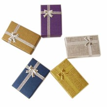 FEDEX Free Shipping ! 1000pcs Assorted Color 5x8x2.5cm Jewelry Set Box Necklace/