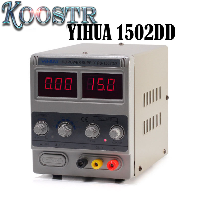 YIHUA 1502DD Adjustable Variable Output DC Power Supply LED Display Phone Repair Power Test Regulated Power