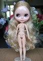 Jointed doll, Обнаженная блайт кукла с шарнирные тела, золото серый длинные волосы, для девушки Подарок, день святого валентина подарок, Рождественский подарок
