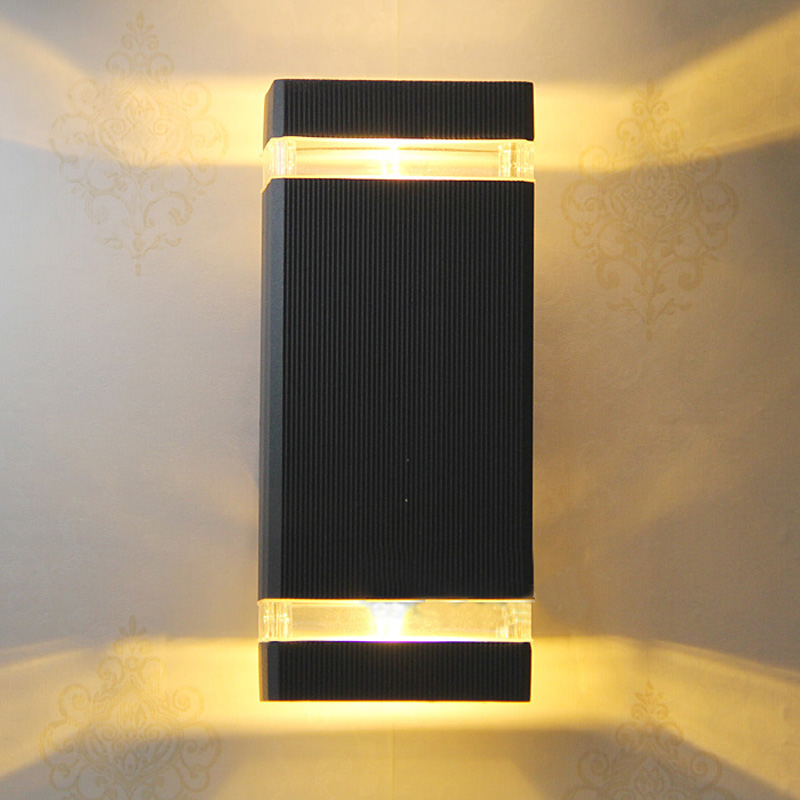 10pcslot black outdoor wall lamp outdoor lighting led porchgarden lights bright outdoor lighting