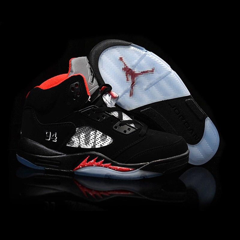 Jordan basket chaussures Air Retro 5 complet respirant hauteur augmentant daim baskets pour hommes chaussures Jordan 5