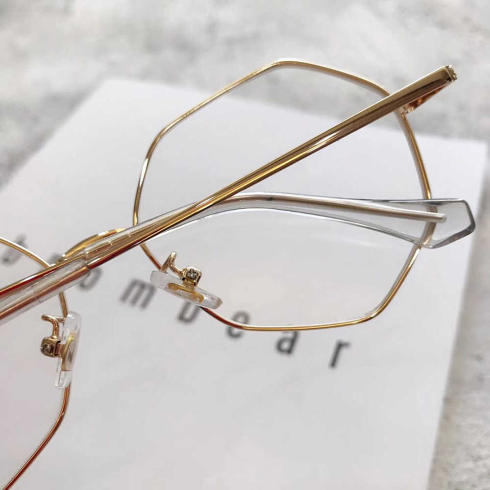 Fashion Personality Retro Polygon Alloy Frame Classic TREND Spectacles with Optical Lenses or Photochromic Gray / Brown Lenses