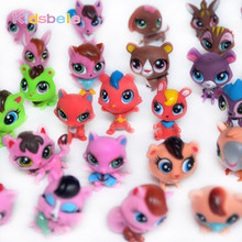 Action Figure Toy For Children 6PCS Littlest Animal Doll Cute Pet Shop Dog Cat Anime Collection Kids Toy Xmas Coloring Girl Gift(China)