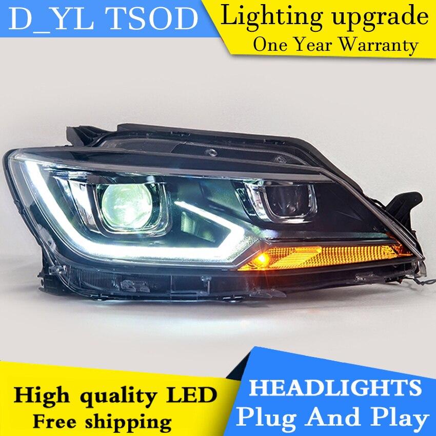 Car Styling LED Head Lamp for Toyota rav4 headlights 2013 2015 RAV4 led headlight led drl